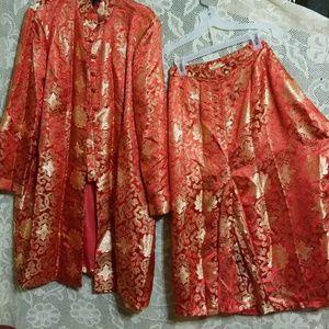Dresses & Skirts - 2 piece suit Long Lined Coat Manderin Collar 20